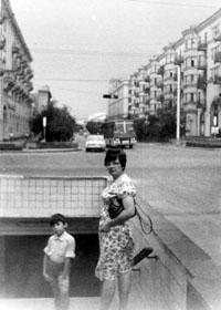 В Волгограде, когда я там был, знаменитый метротрам только строили, 1984 г.